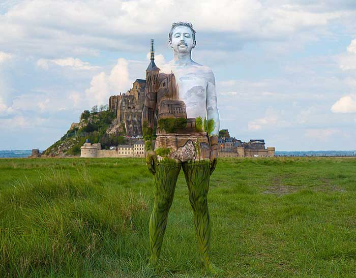 nude-body-painting-background-man-castle
