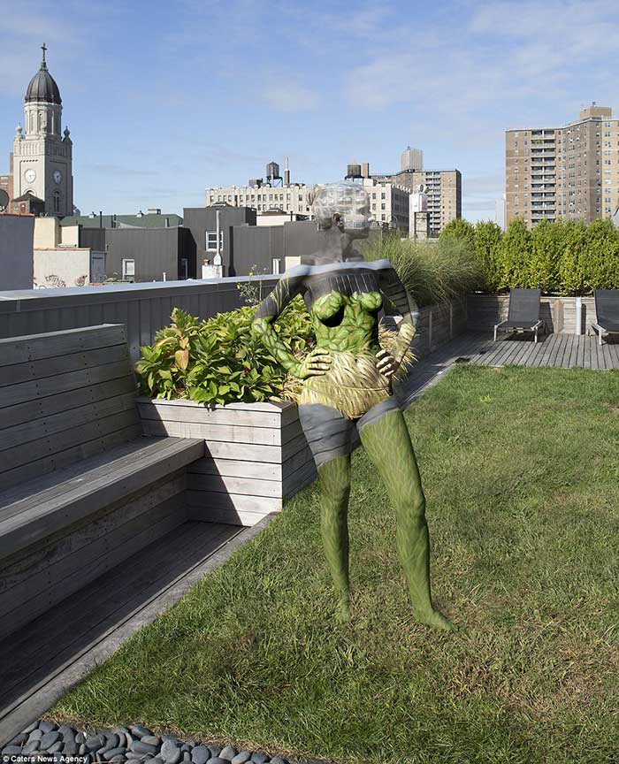 nude-body-painting-background-park-buildings